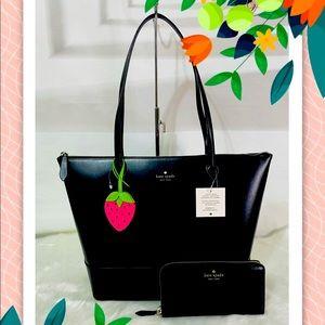 NWT Kate Spade Braelynn Black Tote Bag and wallet